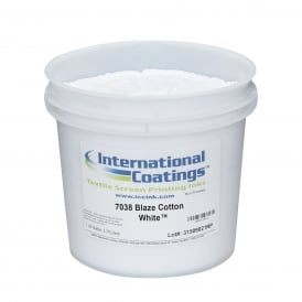 International Coatings 7038 Blaze Cotton White Plastisol Ink
