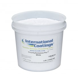 International Coatings 7113 Performance Pro Low Cure Poly White Plastisol Ink