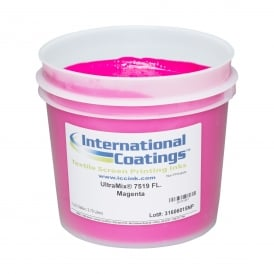 International Coatings UltraMix 7519 FL. Magenta Plastisol Ink