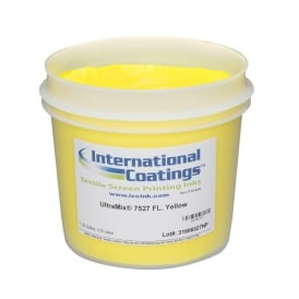 International Coatings UltraMix 7527 FL. Yellow Plastisol Ink