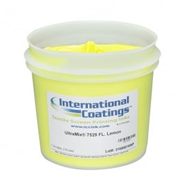 International Coatings UltraMix 7529 FL. Lemon Plastisol Ink