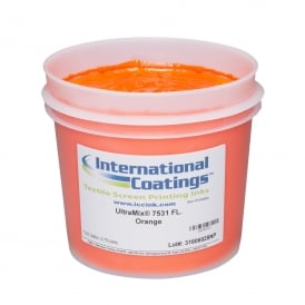 International Coatings UltraMix 7531 FL. Orange Plastisol Ink