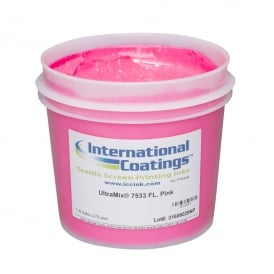 International Coatings UltraMix 7533 FL. Pink Plastisol Ink
