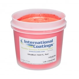 International Coatings UltraMix 7535 FL. Red Plastisol Ink